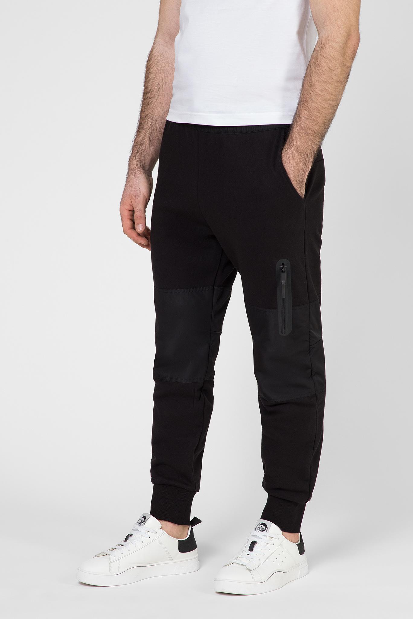 Мужские черные спортивные брюки P-ORTEX Diesel