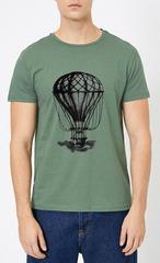 461493-30 футболка мужская, зеленая