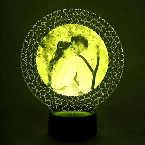 Фото - светильник ( Круглая рамка из сердец)