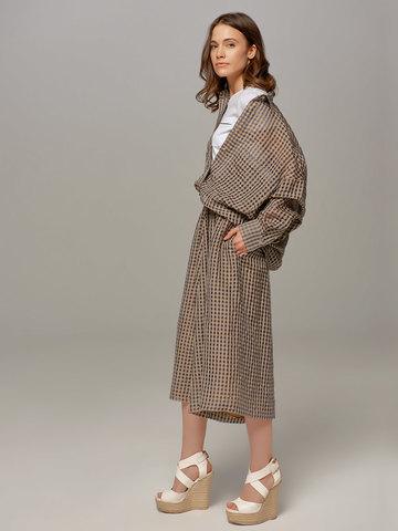 Женская юбка-брюки коричневого цвета в клетку Olmar GentryPortofino - фото 2