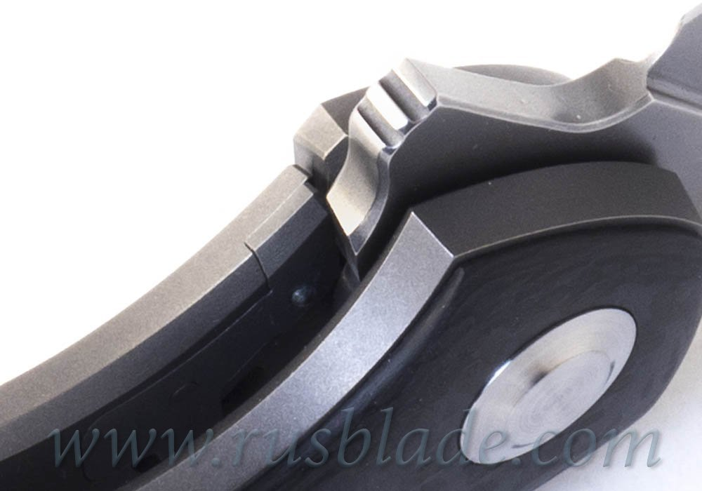 Cheburkov Raven S60V Titanium CF Folding Knife - фотография