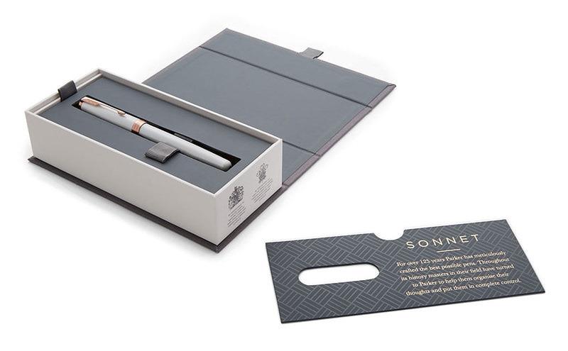 Parker Sonnet Premium - F540 Pearl PGT, перьевая ручка, F