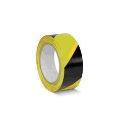 Сигнальная клейкая лента для разметки желтая/черная 50 мм x 33 м (KMSW05033)
