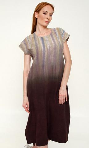 Платье из дикого шелка Сияние Шоколад