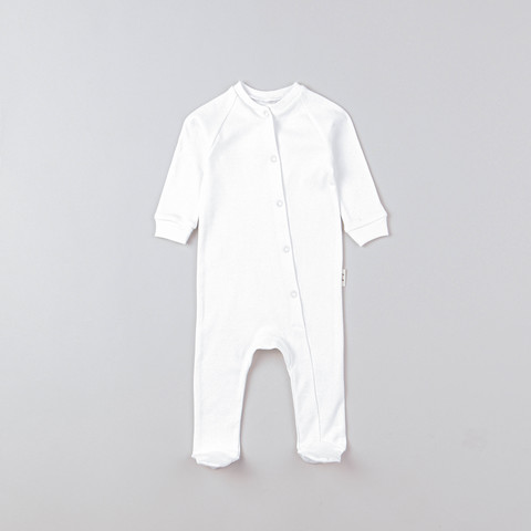 Sleepsuit with snap buttons 0+, Heavy Cream