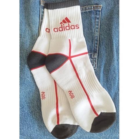 Мужские носки белые с красным Nike Fit спортивные
