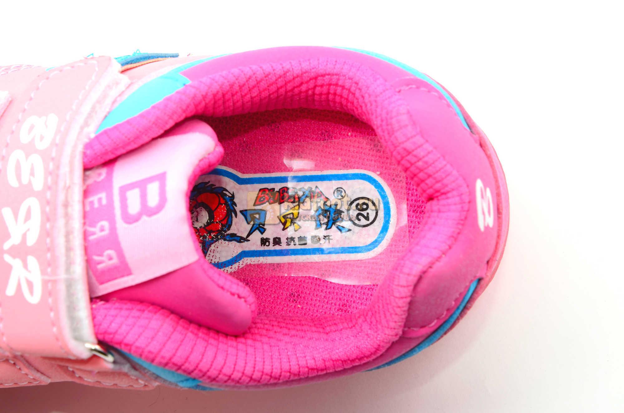 Светящиеся кроссовки Бебексия (BEIBEIXIA) для девочек, цвет розовый, светится вся подошва