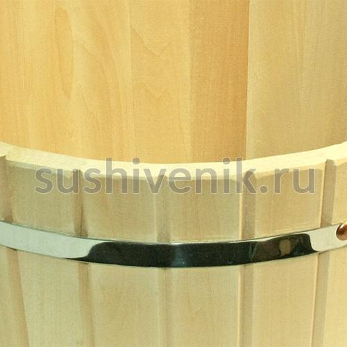 Шайка из липы с металлическим обручем, 12 л