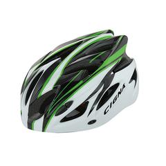 Велошлем Cigna WT-012 (чёрный/зелёный/белый)