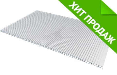 Поликарбонат сотовый толщиной 6 мм прозрачный