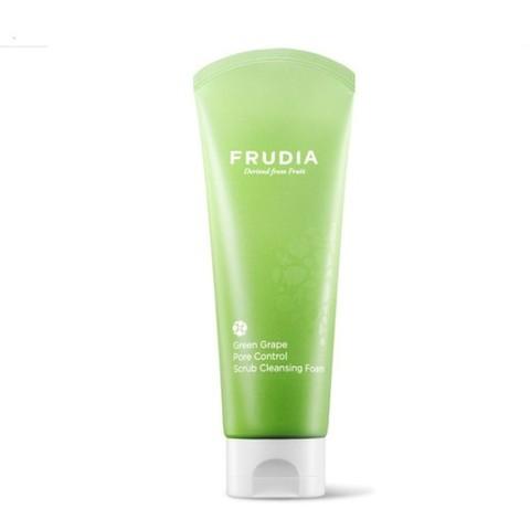 FRUDIA Green Grape Pore Control  Scrub Cleansing Foam/Фрудиа Себорегулирующий скраб-пенка для умывания с зеленым виноградом