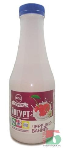 Йогурт питьевой 500г. Черешня-ваниль Рогачев