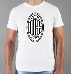 Футболка с принтом FC ACM Milan (ФК Милан) белая 005
