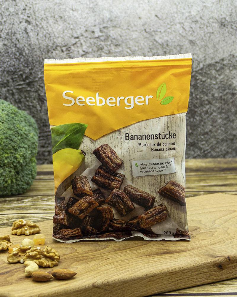 Бананы Seeberger Сушеные, Кусочки 200 гр.