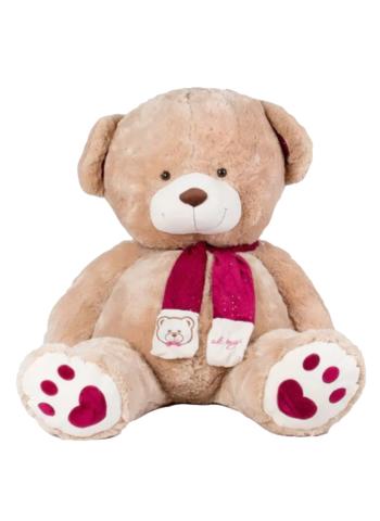 Игрушка Плюшевый медведь Кельвин (150 см). Кофейный