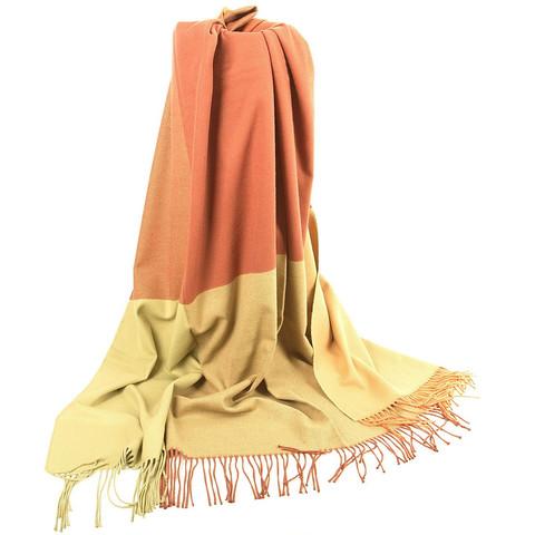Плед из хлопка Дрезден оранжевый