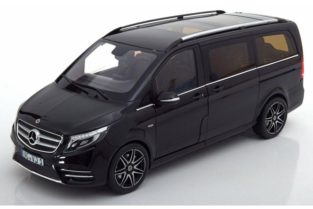 Коллекционная модель MERCEDES-BENZ W447 V-CLASS AMG-LINE 2017 BLACK METALLIC