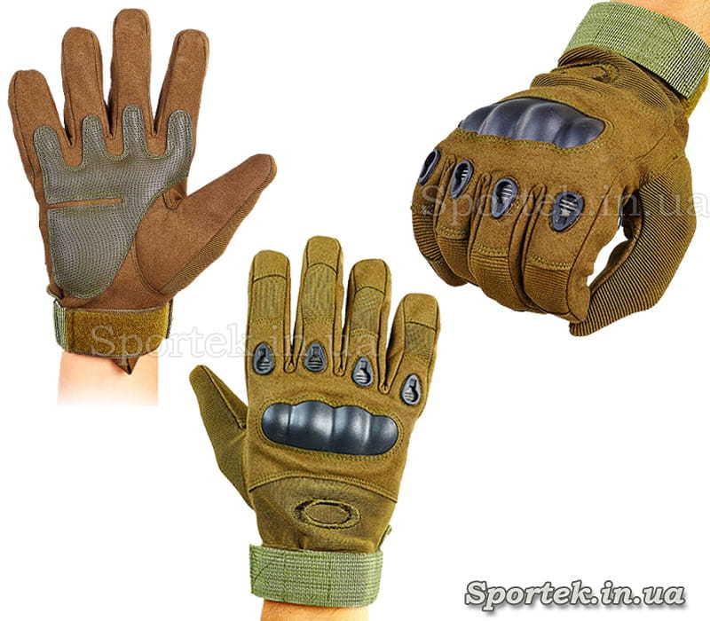 Перчатки тактические с закрытыми пальцами OAKLEY BC-4623 (размеры M-XXL)