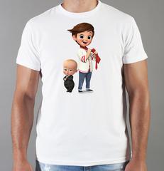 Футболка с принтом мультфильма Босс-молокосос (The Boss Baby) белая 0012