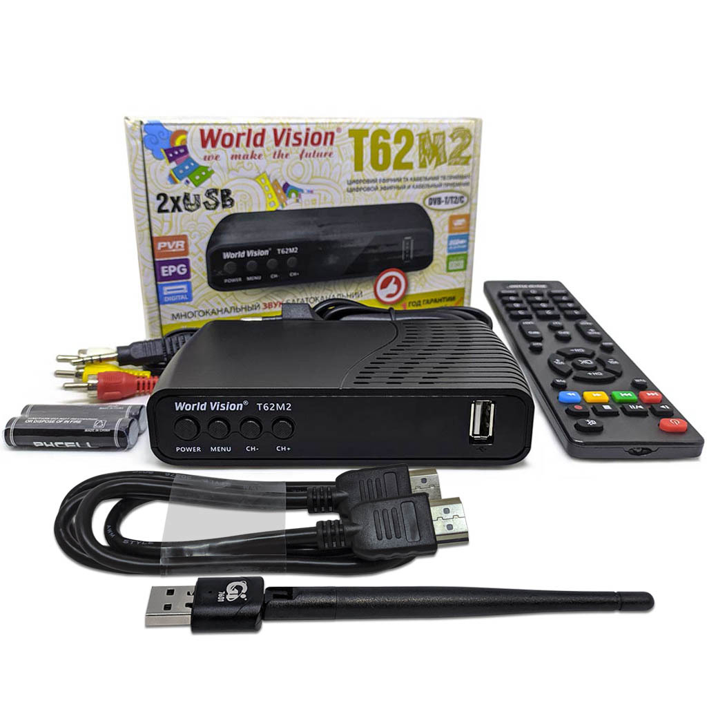 КОМПЛЕКТ WORLD VISION T62M2 + USB WI-FI + HDMI