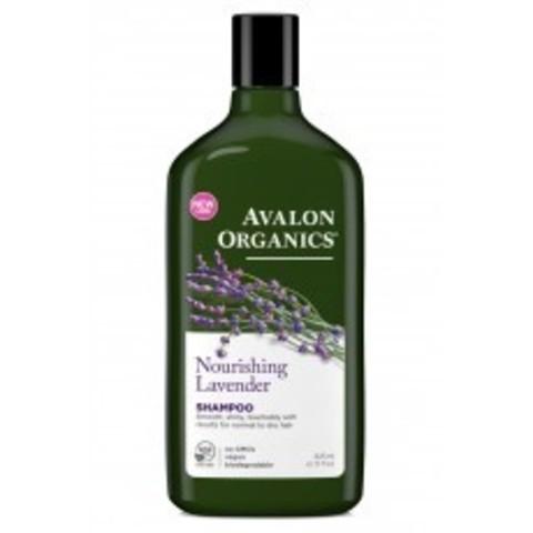 Avalon Organics Shampoo: Шампунь для волос с маслом лаванды (Lavender Nourishing Shampoo), 325мл