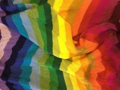 Шарф снуд полосатый радужный