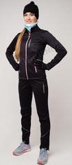 Женский утеплённый лыжный костюм Nordski Active Base Black 2020 без лямок
