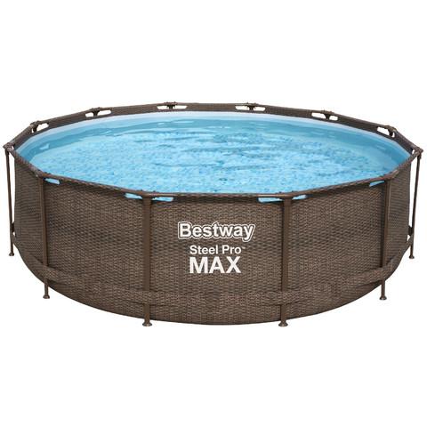 Каркасный бассейн Bestway Ротанг 56709 (366х100 см) с картриджным фильтром и лестницей / 22530