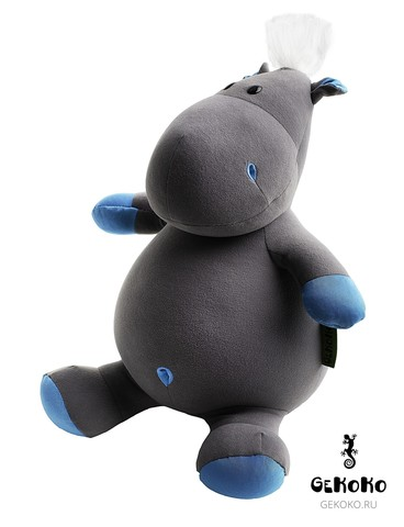 Подушка-игрушка антистресс Gekoko «Бегемот малыш Няша», голубой 3