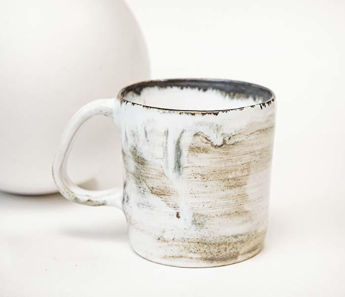 CUP117-1 Керамическая кружка ручной работы, глазурь (200 мл) фото 02
