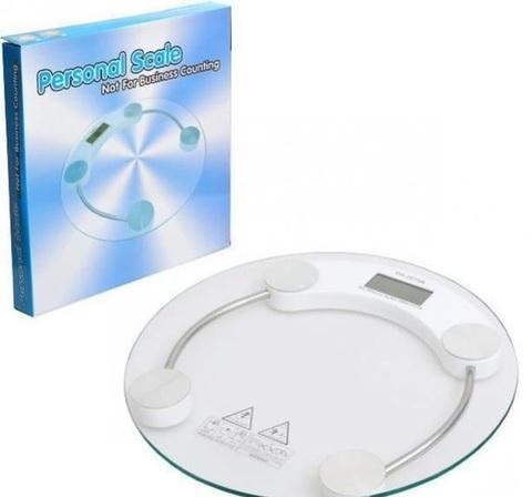 Весы напольные круглые стеклянные до 150 кг, ACS 2003A.
