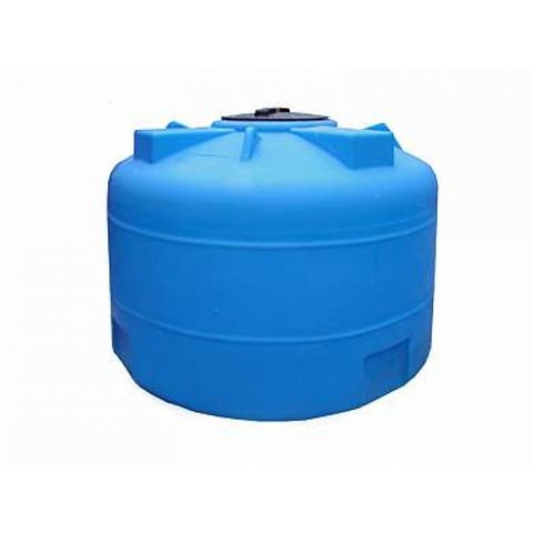 Емкость 2000л стационарная с фланцем и крышкой с клапаном (Синий), (1600 х 1260 мм), арт.А2002ВФК2