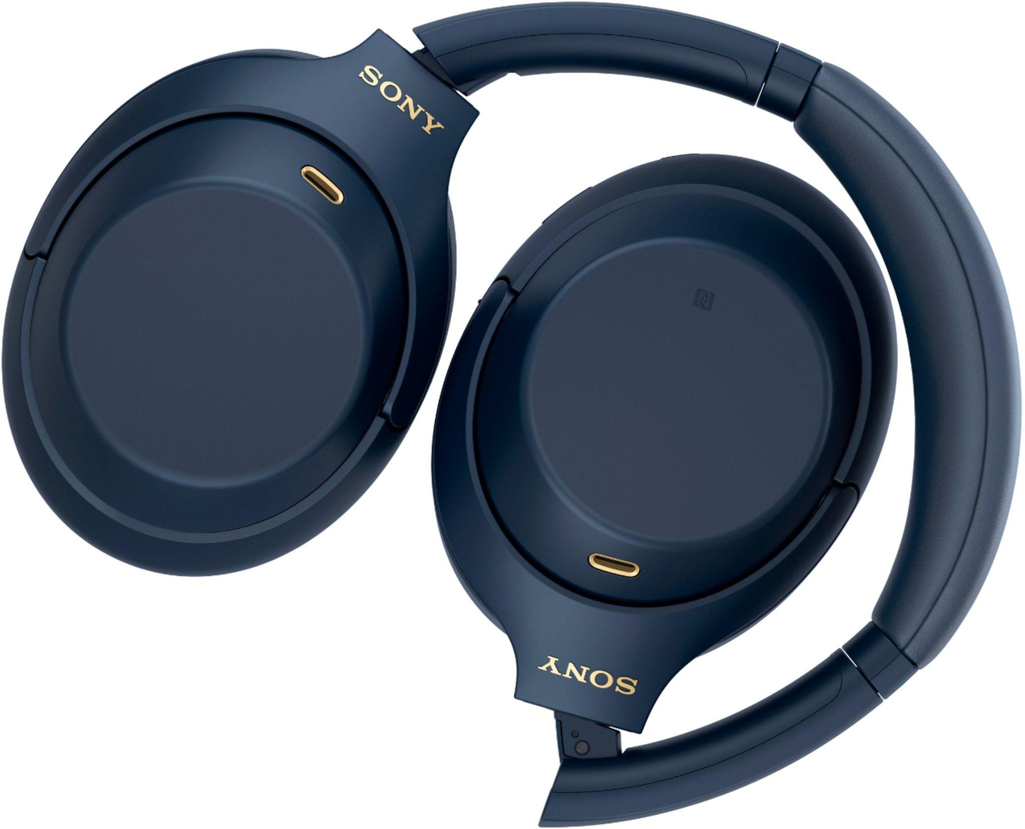 Наушники Sony WH-1000XM4 синие купить в фирменном интернет-магазине