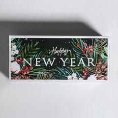 Коробочка для макарун Happy New Year 12 х 5,5 х 5,5 см.