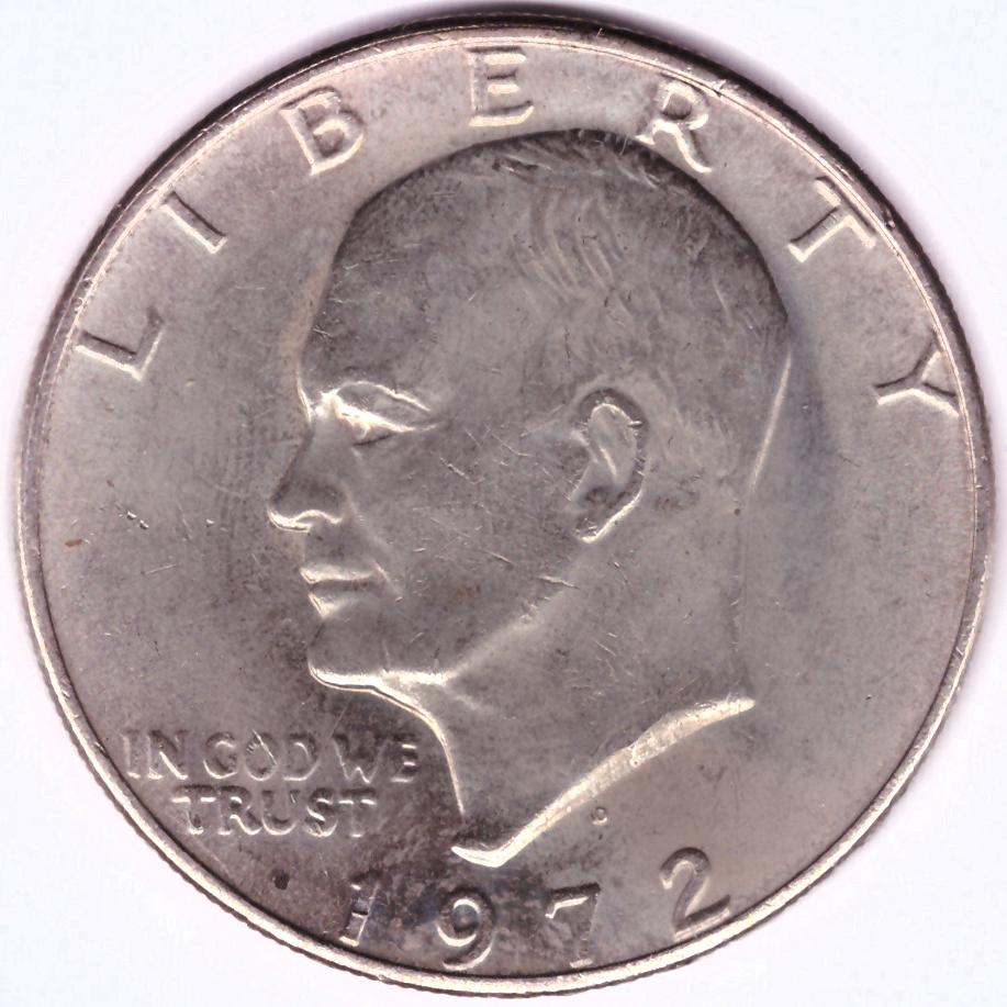 1 доллар 1972 (D) США Эйзенхауэр XF (Лунный)