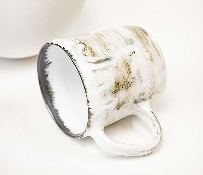 CUP117-1 Керамическая кружка ручной работы, глазурь (200 мл) фото 03