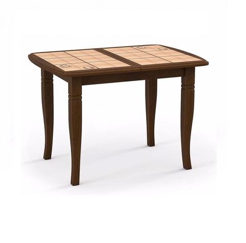 Стол обеденный Домино-2 раскладной с плиткой дуб