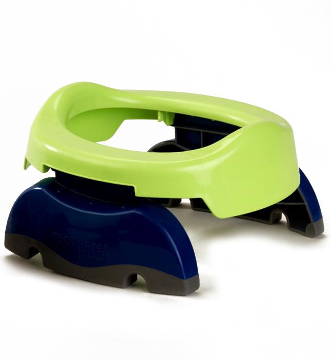 Комплект 3в1: складной дорожный горшок Potette Plus с силиконовой вставкой и пакетами 10шт.