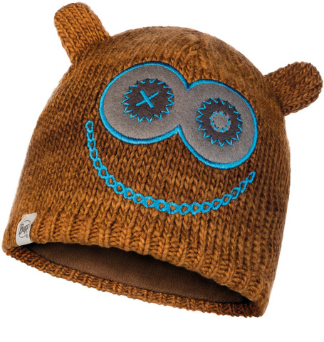 Шапка вязаная с флисом детская Buff Hat Knitted Polar Monster Tundra Khaki фото 1