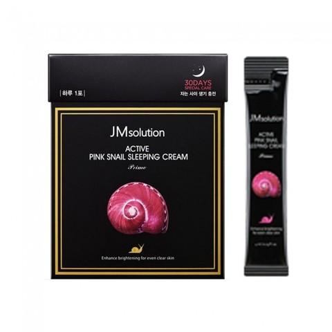 JMsolution Active Pink Snail Sleeping Cream Ночной крем с муцином розовой улитки