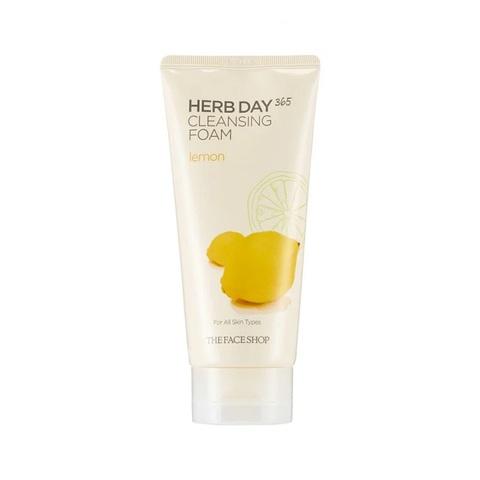 The Face Shop Herb Day 365 Cleansing Foam Lemon пенка с лимоном с противовоспалительным, увлажняющим и осветляющим действием