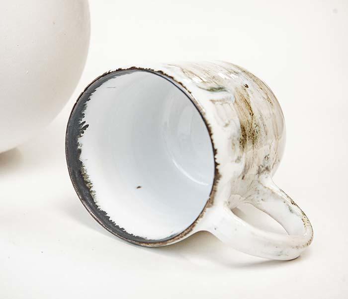 CUP117-1 Керамическая кружка ручной работы, глазурь (200 мл) фото 04