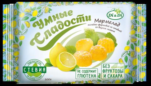 Мармелад Умные Сладости на стевии Лимон 200г б/глют