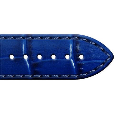 01.01.80.1-1.0.20-16.40.2 - Кожаный ремешок для часов, синий аллигатор 20мм