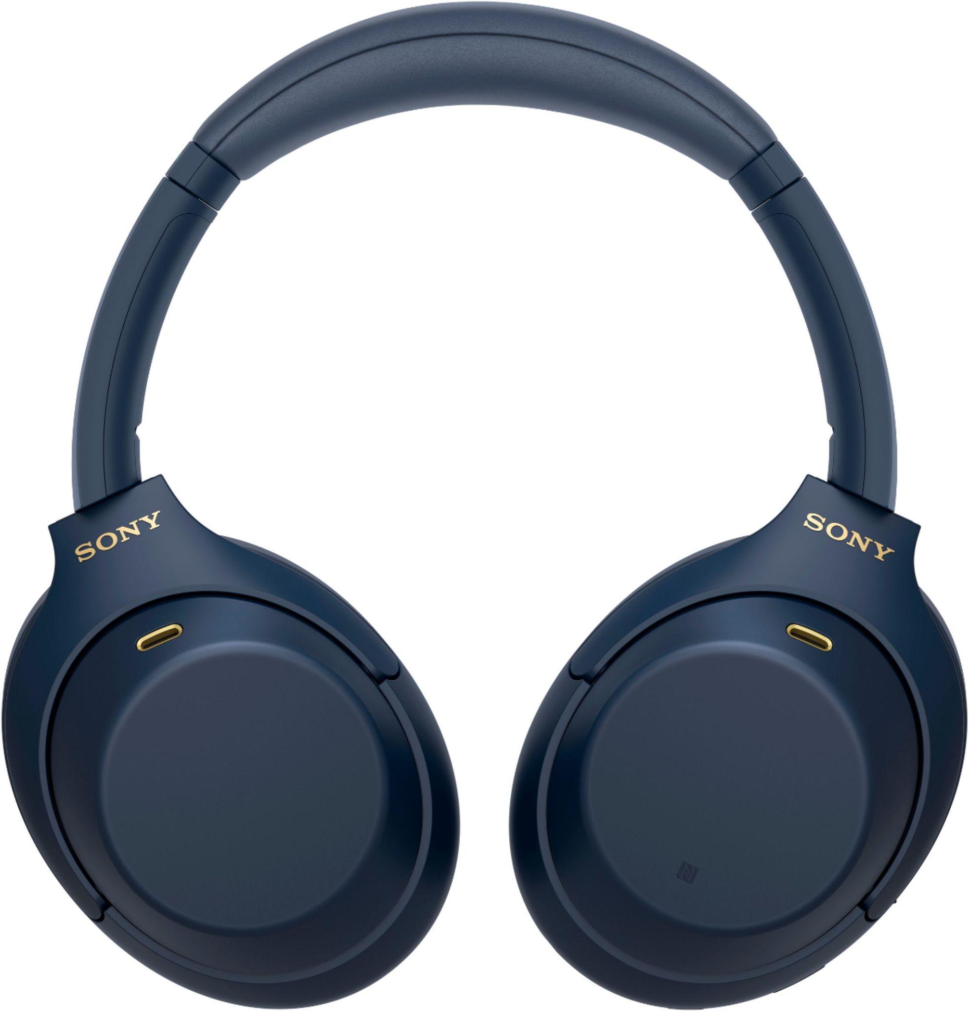 Bluetooth наушники Sony WH1000XM4 синего цвета