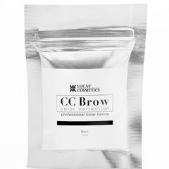 Хна для бровей CC Brow (black) в саше (черный), 10 гр