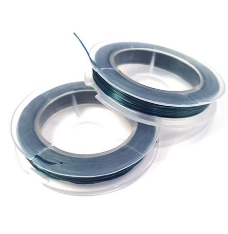 Спандекс - силиконовая нить, без оплетки 0,6 мм темный изумруд