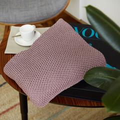 Плед вязанный детский хлопок/акрил 120*90 см Бледный красно-пурпурный
