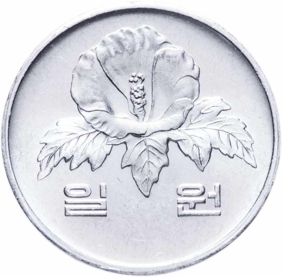 1 вон. Южная Корея. 1984 год. UNC