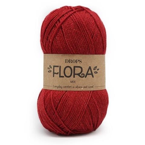 Пряжа Drops Flora 18 темно-красный